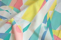 Japanese Fabric Kokka JUBILEE printed matter line - mosaic - A on Etsy, ¥861.70