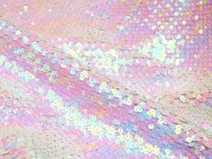 white/pink sequins