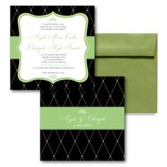 Royal Charm Wedding Invitation, Green Wedding Invitations, Elegant Wedding Invitations