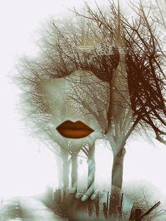 'Red lips, dessous and autumn' von Gabi Hampe bei artflakes.com als Poster oder Kunstdruck $20.79