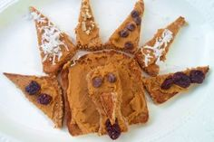 """Gobble-Gobble Turkey Toast with Pumpkin Butter (Cooking with Kids). Fun, Healthy, Yummy, Fast & Easy Treat for Breakfast or Snack. (Fun to serve on a Turkey Platter.  Kids love to help decorate and eat the """"turkey feathers."""")"""