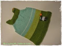 My Crochet , Mis Tejidos: Emma Tunic , my first kintted baby dress