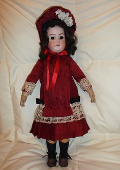 French type natural silk outfit fro 55 cm antique doll