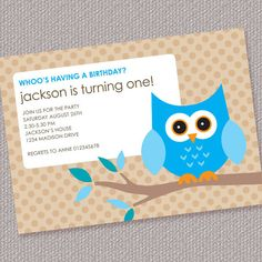 Look whos turning one owl birthday party invitation birthday look whos turning one owl birthday party invitation birthday pinterest boy birthday owl birthday parties and owl parties filmwisefo