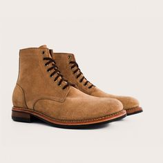 Oak Street Bootmakers | Natural Rough-Out Dainite Trench Boot - Footwear