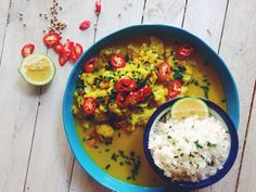 Balinese style yellow cauliflower curry