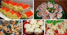 Подборка оригинальных закусок на праздничный стол Bolet, Valspar, Potato Salad, Sushi, Cereal, Deserts, Chicken, Meat, Breakfast