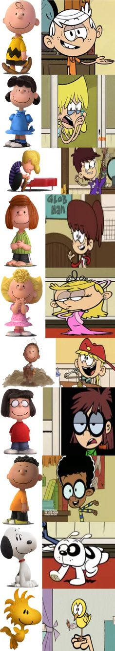 Sometimes The Loud House reminds me of Peanuts with it's comic style and how some of the characters are almost alike to some Peanut characters. So I thought of maybe comparing some Loud House chara...