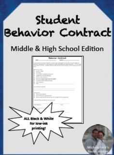 Behavior essays for middle school students to copy