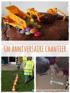 Des idees pour animer un anniversaire sur le theme du chantier.