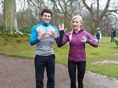 James and Hannah embracing their inner Star Trek.