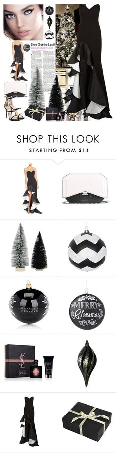"""""""Oh! Ho! Christmas tree!!!!"""" by ann-kelley14 on Polyvore featuring Jovani, Givenchy, Barneys New York, Home Decorators Collection, Yves Saint Laurent, Amara and Giuseppe Zanotti"""