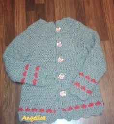Angelica lucreaza: Pulover crosetat cu inimioare Crochet Clothes, Sweaters, Fashion, Moda, Fashion Styles, Fasion, Sweater, Sweatshirts