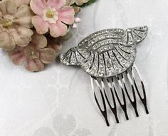 Vintage Jeweled Hair Comb  Art Deco Paste by myboutiquebijou, $55.00