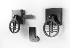Asian Inspired Contemporary Gate Latch asian pulls