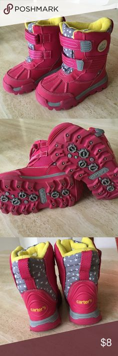 Toddler girl snow boot Worn only 1 or 2 times, excellent condition, Velcro closure Carter's Shoes Rain & Snow Boots