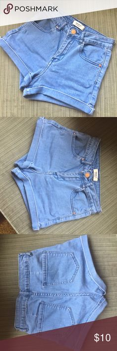 high waisted blue jean shorts high waisted short shorts from forever 21 for a 24 in waist Forever 21 Shorts Jean Shorts