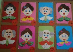 Joanna Szturomska Facebook- Pomysły na prace plastyczne Preschool Arts And Crafts, Craft Activities For Kids, Diy Arts And Crafts, Craft Stick Crafts, Fun Crafts, Paper Crafts, Grandparents Day Crafts, Mothers Day Crafts For Kids, Origami