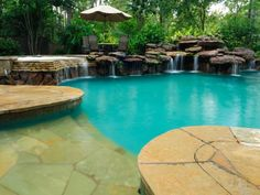 Swimming Pool Waterfalls and Natural Rock Waterfalls | Platinum Pools