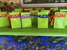 Ninja Turtle gift bags