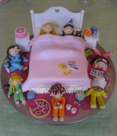 Sleepover Cake... cute idea! Could improvise with little people.