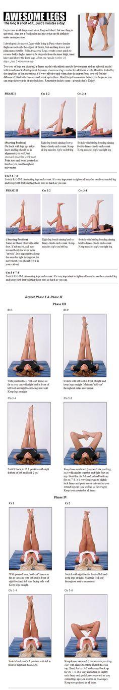 Amazing legs in 5 days!     Original: http://www.t-tapp.com/articles/legs/index.html