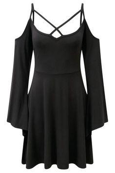 Séance Angel Sleeve Skater Dress [B] | KILLSTAR