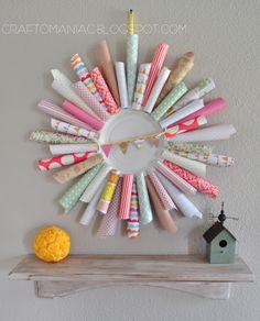 DIY Paper Cone Wreath #paperconewreath #wreaths #diy