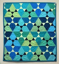 Robert Kaufman 30 Quilts for 30 Years - A Celebration of Kona Cotton | Jaybird Quilts ~ Lotus Quilt  xxxx