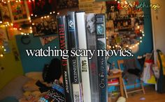 Which is what me + friends do all the time when we go to eacjothers houses. Scary movies are a must!