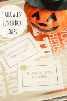 Free printable Halloween lunch box jokes