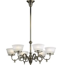 King's Hill Late Victorian Gas-Style Chandelier A6523