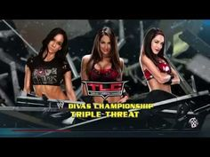 WWE 2k15 : AJ Lee vs. Nikki Bella vs. Brie Bella - WWE TLC