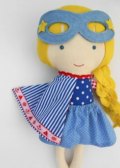 These superhero rag dolls in nautical look are the perfect toddler gift or a toy for prescoolers. These sailor rag dolls look beautiful in a nautical themed kids room; ideal custom gift for kids, twins, prescoolers. >>>Listing is for two dolls!<<< Surprise the little ones in your life with a personalized present and a bespoke toy they never knew they wanted! Personalize your doll with a name tag. - Choose your favourite La Loba superhero doll - add this listing with the ...