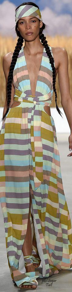 Mara Hoffman S-16 RTW: striped dress.