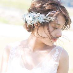 weddinghair @hanano.craft16 さんの作品✨ . 可愛いのばっかりやしちょこちょこ載せていくことにしよう〜!と決めました✌︎笑 . カメラマン @ricer28 . #ブライダル#ベッドドレス
