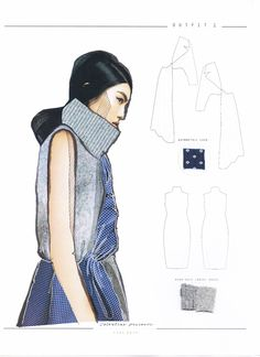 Re-constructing Heritage - ArtsThread : Fashion Sketchbook - knitwear design; Fashion Design Sketchbook, Fashion Design Portfolio, Fashion Illustration Sketches, Fashion Sketches, Fashion Drawings, Illustrations, Fashion Books, Fashion Art, Fashion Fashion