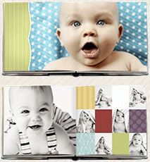 love the colors and fun of this Oh, Baby! album template.