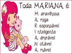 Significado dos Nomes imagem #2431 - Toda Mariana é: Maravilhosa Amiga Responsável Inteligente Admirável Notável Amável - Significado Nome Mariana. Imagens para Facebook, Pinterest, Tumblr, Google+ e Whatsapp.