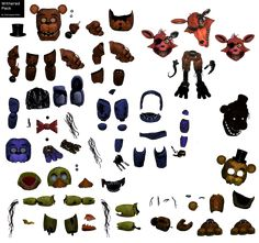 FNaF Withered Animatronic Resource Pack by DaHooplerzMan on DeviantArt Animatronic Fnaf, Fnaf Characters, Warcraft Art, Modelos 3d, Trunk Or Treat, Freddy S, Five Nights At Freddy's, Art Reference, Diy And Crafts