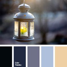 Blue-black raven emphasizes a combination of gray-blue pastel colors and color of candle's fire. This color solution is well suited for interior of room, l