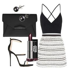 """""""Untitled #92"""" by kola-sara on Polyvore featuring Topshop, Giuseppe Zanotti and Givenchy"""