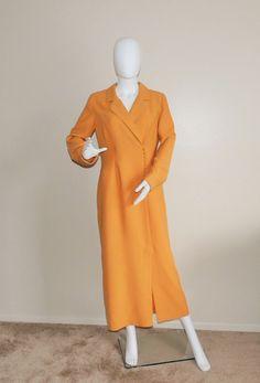 Vintage 40's Style Dress Tawny Long Sleeve by OanaVintageCorner