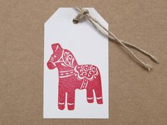 Weihnachtsdeko: Stempel mit Dala Pferd / christmas essentials: stamp with swedisch dala horse by STAMPelART via DaWanda.com