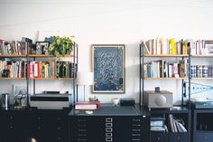 workspace of Title Case, sf studio of jessica hische and erik marinovich