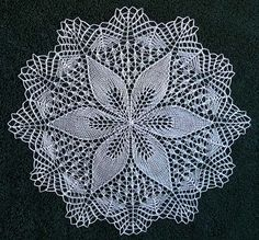 knitted doilies patterns – Knitting Tips Crochet Doily Patterns, Lace Patterns, Crochet Designs, Crochet Doilies, Crochet Lace, Vintage Knitting, Lace Knitting, Knitting Stitches, Knitting Patterns Free