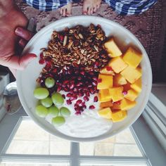 Pjs, sunshine, and fruity granola ☀ #Padgram