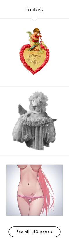 """""""Fantasy"""" by sweetcherrycola ❤ liked on Polyvore featuring valentine's, dolls, body parts, doll parts, body, doll torso, vocaloid, women, fantasy tube and girls"""