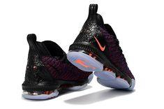 Mens Nike LeBron 16 Black Blue Orange - Click Image to Close ae67465ff