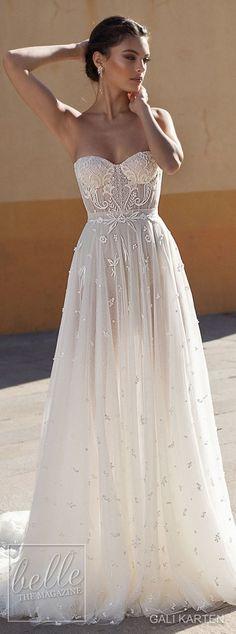 Gali Karten Wedding Dress 2018 - Burano Bridal Collection Wedding Dresses 2018, Black Wedding Dresses, Princess Wedding Dresses, Bridal Dresses, Dress Wedding, Delicate Wedding Dress, Wedding Corset, Modest Wedding, Event Dresses